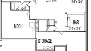 2 Bedroom House Plans with Garage and Basement Awesome Home Plans with Basements 13 2 Bedroom House