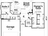 2 Bedroom Retirement House Plans Contemporary Style House Plans 1436 Square Foot Home 1