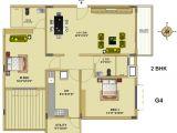 2 Bhk Home Plan Floor Plan fort House Near Hebbal Lake Bangalore