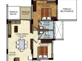 2 Bhk Home Plan Residential Apartments Floor Plans Site Plan 2 Bhk 3