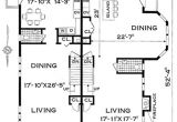 2 Family House Plans Narrow Lot Three Bedroom Duplex Home Design
