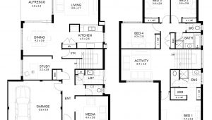 2 Floor Home Plan 2 Storey House Floor Plan with Perspective Modern House