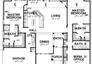 2 Master Suite Home Plans Double Master Bedroom House Plan 3056d Architectural