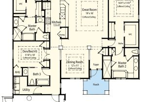 2 Master Suite Home Plans Dual Master Suite Energy Saver 33093zr 1st Floor