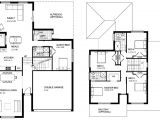 2 Storey Home Plans Two Storey House Design with Floor Plan Modern House