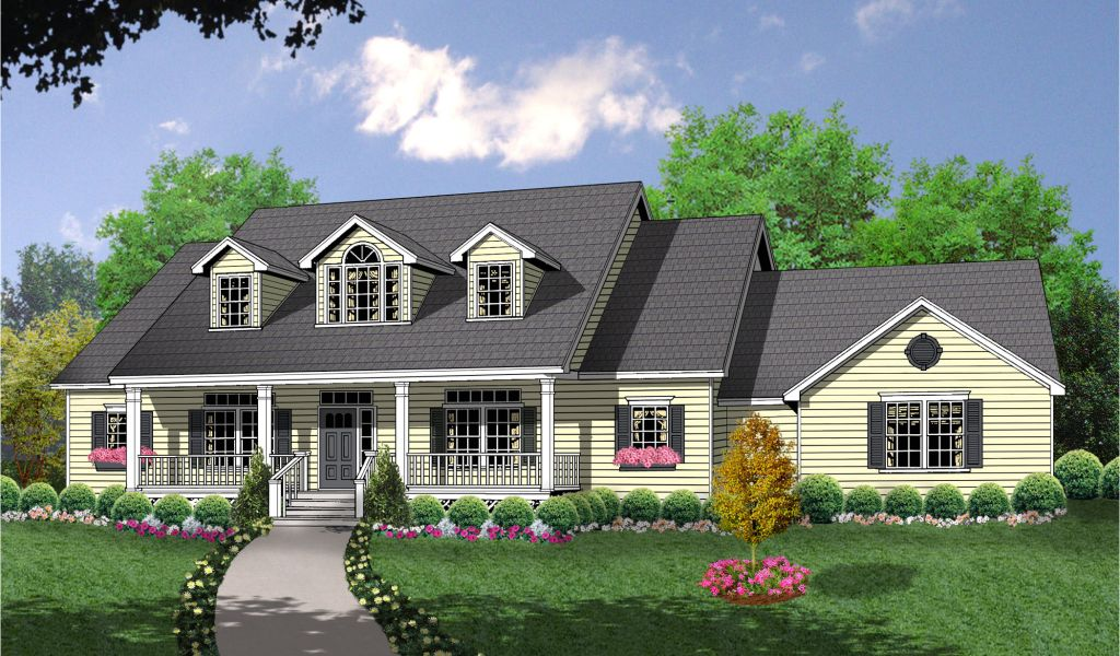 2 Story House Plans With Dormers Bonus Space Over Side Entry Garage