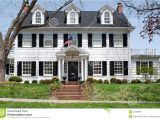 2 Story House Plans with Dormers Georgian Colonal House Stock Image Image Of Lawn