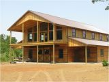 2 Story Pole Barn Home Plans Large Open Patio with Cover Over the Bottom Also Barn