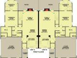 2 Unit Home Plans 2 Unit townhouse Design with Back Patio 83124dc