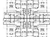 2 Unit Home Plans 8 Unit House Plan with Corner Decks 18511wb