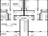 2 Unit Home Plans Multi Unit House Plans Home Design Ls H 5941 A4