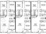 2 Unit Home Plans Triplex House Plans 1 387 S F Ea Unit 3 Beds 2 Ba