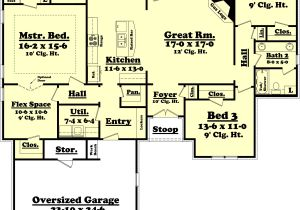 2000 Sf Ranch House Plans Country Style House Plan 3 Beds 2 Baths 2000 Sq Ft Plan