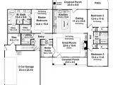 2000 Sq Ft Ranch House Plans with Basement southern Style House Plan 3 Beds 2 50 Baths 2000 Sq Ft