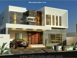2014 New Home Plans 3d Front Elevation Com New 1 Kanal Contemporary House
