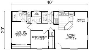 20×40 House Plans with Loft Second Unit 20 X 40 2 Bed 2 Bath 800 Sq Ft Little