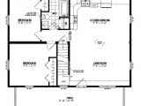 24×36 House Plans with Loft 24 X 36 Cape House Plans