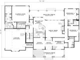 2500 Square Feet Home Plans 2500 Sq Ft One Level 4 Bedroom House Plans First Floor