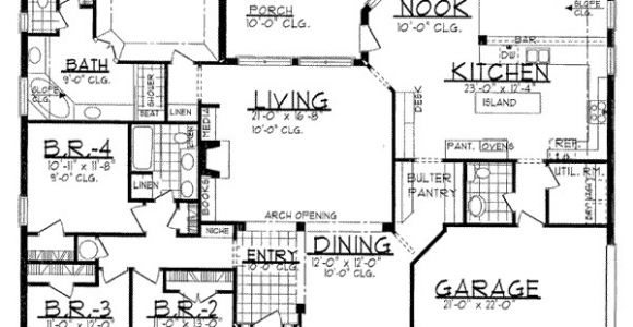 2700 Sq Ft House Plans Traditional Style House Plan 4 Beds 2 5 Baths 2700 Sq Ft