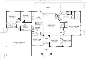 2800 Sq Ft House Plans Single Floor Traditional Style House Plans 2800 Square Foot Home 1