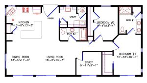 28×40 Two Bedroom House Plans 1 Bedroom Cabin Floor Plan Joy Studio Design Gallery