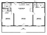 28×40 Two Bedroom House Plans 24 X 40 House Plans
