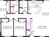 28×40 Two Bedroom House Plans Cottage
