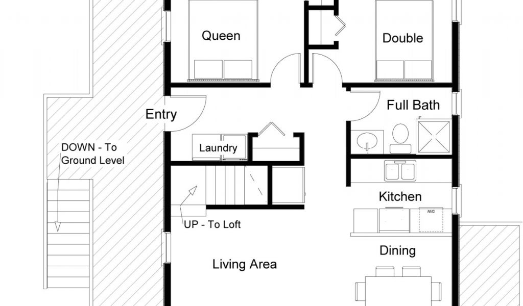 2bhk Plan Homes Small Bedroom House Plans New Unique Plan