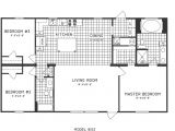 3 Bedroom 2 Bath Mobile Home Floor Plans 3 Bedroom Floor Plan C 8103 Hawks Homes Manufactured