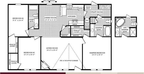 3 Bedroom 2 Bath Mobile Home Floor Plans Lovely Mobile Home Plans Double Wide 6 3 Bedroom 2 Bath