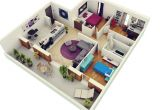 3 Bedroom Home Design Plans 3 Bedroom Apartment House Plans Futura Home Decorating