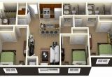 3 Bedroom Home Design Plans 3 Bedrooms House Plans Designs