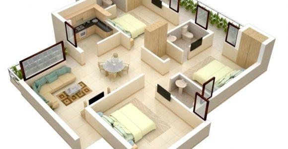 3 Bedroom Home Design Plans thoughtskoto
