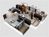 3 Bhk Home Plans 3 Bhk Apartment 3d Interior Design by Zero Designs
