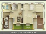 3 Bhk Home Plans Kerala Building Construction 3 Bhk Linked Villa