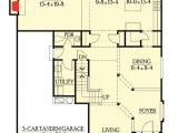 3 Car Tandem Garage House Plans 3 Car Tandem Garage and Bonus Space 2306jd