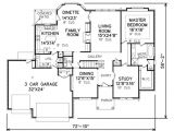 3000 Square Foot Home Plans Traditional Style House Plan 4 Beds 2 5 Baths 3000 Sq Ft
