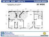 30×60 House Floor Plans Columbia Manufactured Homes Golden West Platinum Series