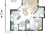 32×32 House Plans Country One Story House Plan with Open Concept and
