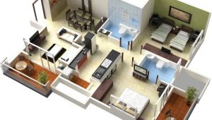 3d Home Floor Plan Bedroom Position In Home Design Plans 3d This for All