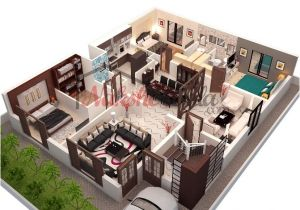 3d Home Floor Plan Design 3d Floor Plans 3d House Design 3d House Plan Customized