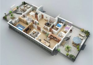 3d Home Floor Plan Design Apartment Designs Shown with Rendered 3d Floor Plans