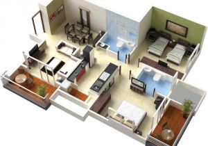 3d Home Floor Plan Design Single Floor House Plans In 3d This for All