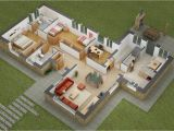 3d Home Plan 25 Two Bedroom House Apartment Floor Plans