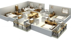 3d Home Plan Design Impressive Floor Plans In 3d Home Design