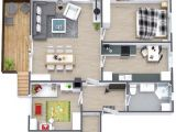 3d House Plans In 1000 Sq Ft Two Bedroom Small House Plans Under 1000 Sq Ft 3d Designs