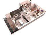 3d Plan Home 25 More 3 Bedroom 3d Floor Plans