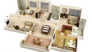 3d Plan Home 3 Bedroom House Plans 3d Design 7 House Design Ideas