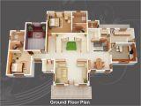 3d Plan Home evens Construction Pvt Ltd 3d House Plan 20 05 2011