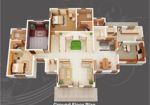 3d Plan Home evens Construction Pvt Ltd 3d House Plan 20 05 2011